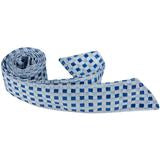 B21 - Blue and Silver Gingham Matching Tie