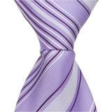 L3 - Purple with Dark and Light Stripes Matching Tie