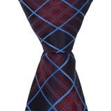 X8 - Navy, Maroon, Blue Plaid Matching Tie