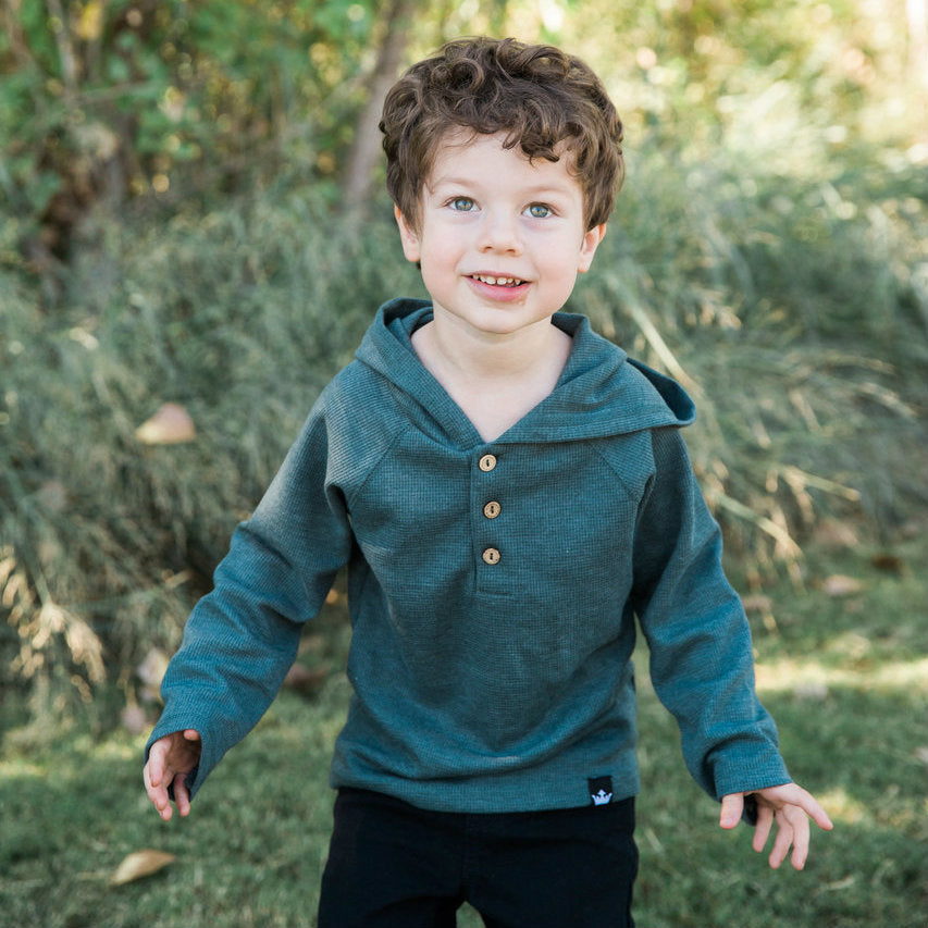 Joseph Charcoal Thermal Hoodie Bodysuit and Shirt