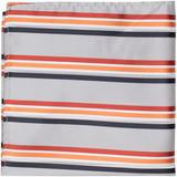 XS24 - Grey with Red, Orange, White, Navy Stripes Matching Tie