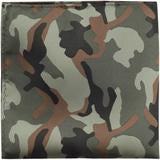 XG18 - Green, Black, and Brown Camouflage Matching Tie