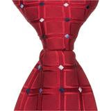 R5 - Red Squares with Diamond Accents Matching Tie