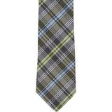 XG49 - Brown/Green/Blue Plaid Matching Tie
