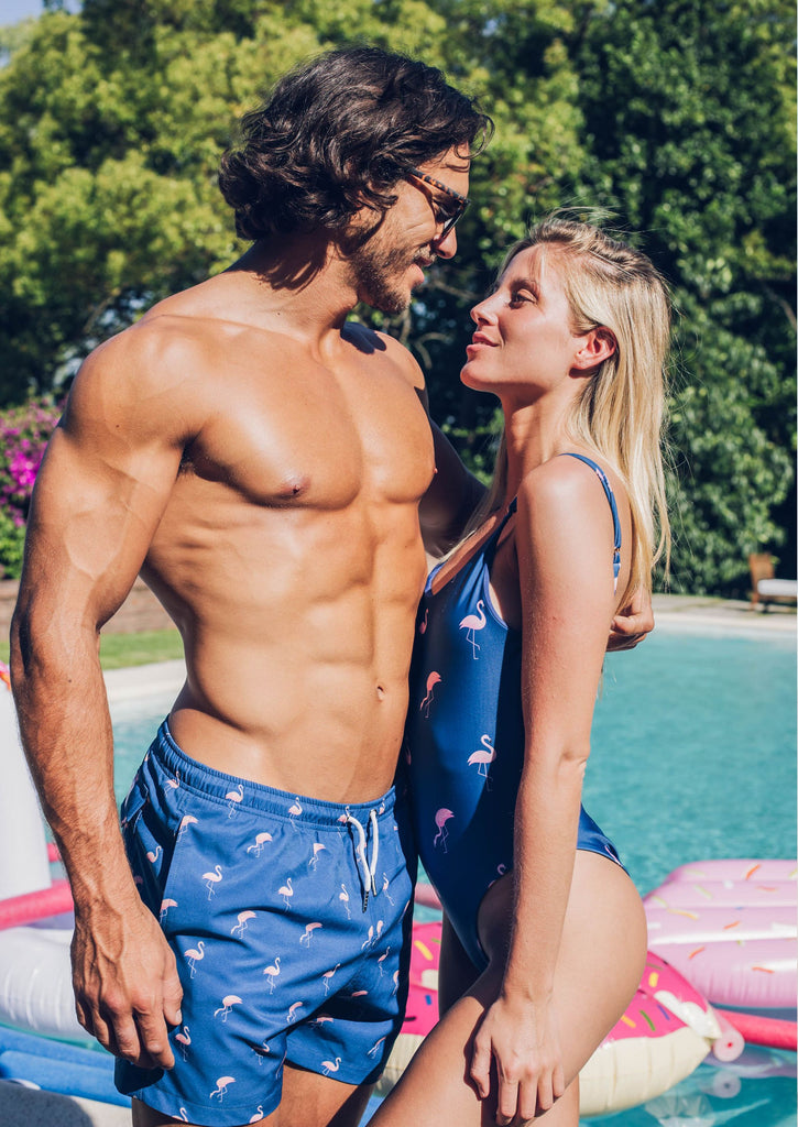 MIAMI FLAMINGO Matching Swimsuits - Bermies