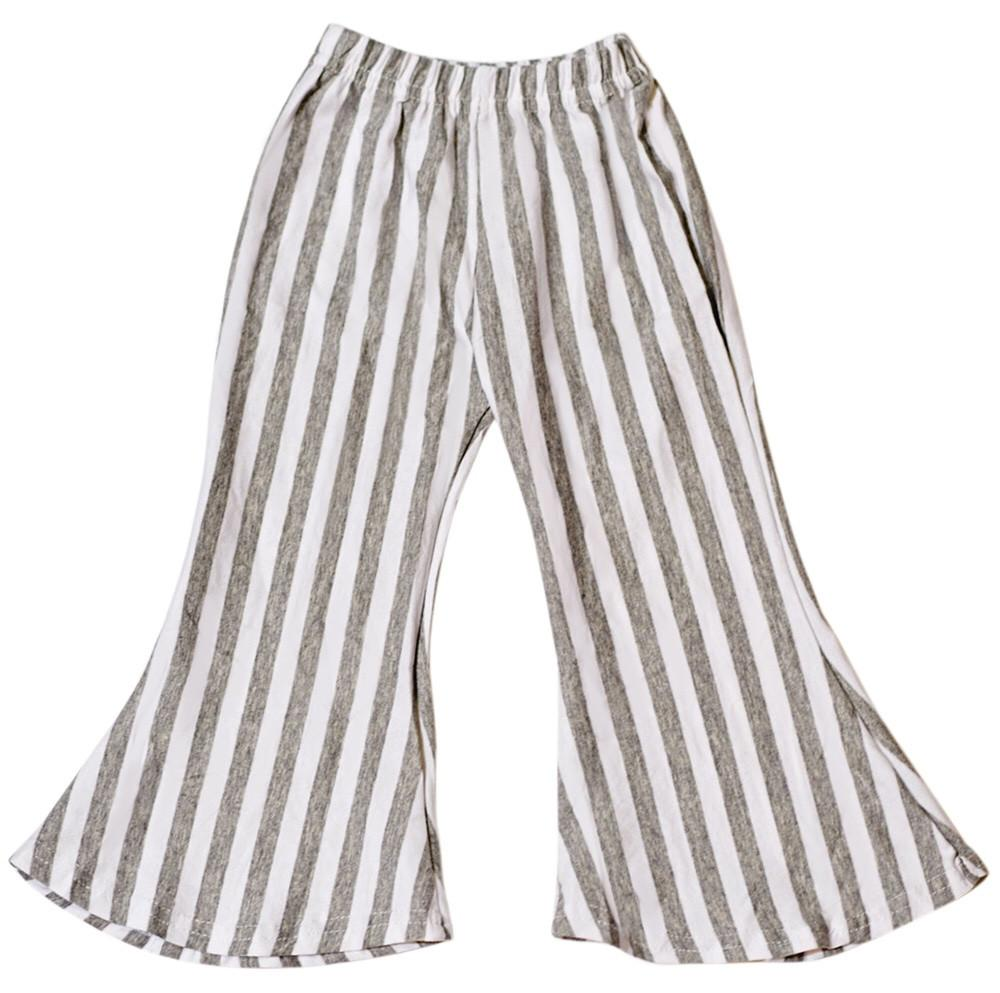 Bella Palazzo Striped Pants in Gray and White - Mommy and Me