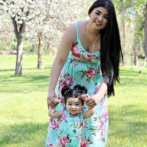EVERLY - Green Floral Dress - Mommy and Me