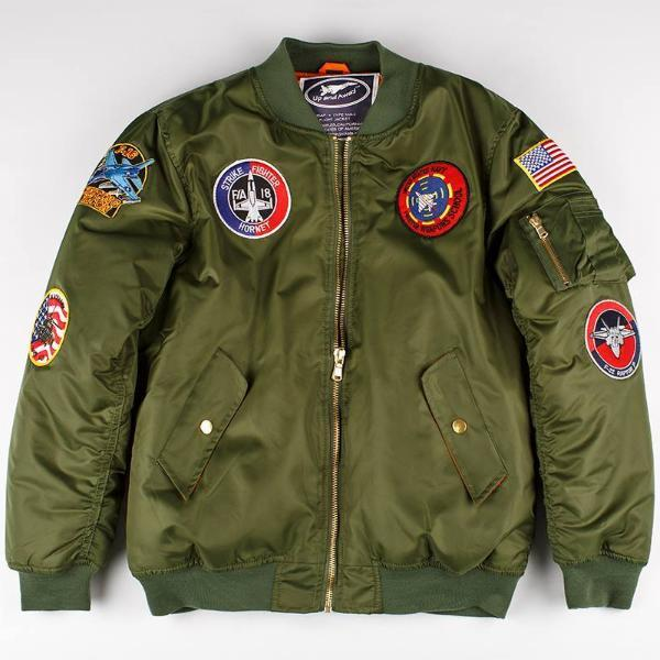 (Daddy and Me) MA-1 Green Flight Jacket  d2c83bbd9f0