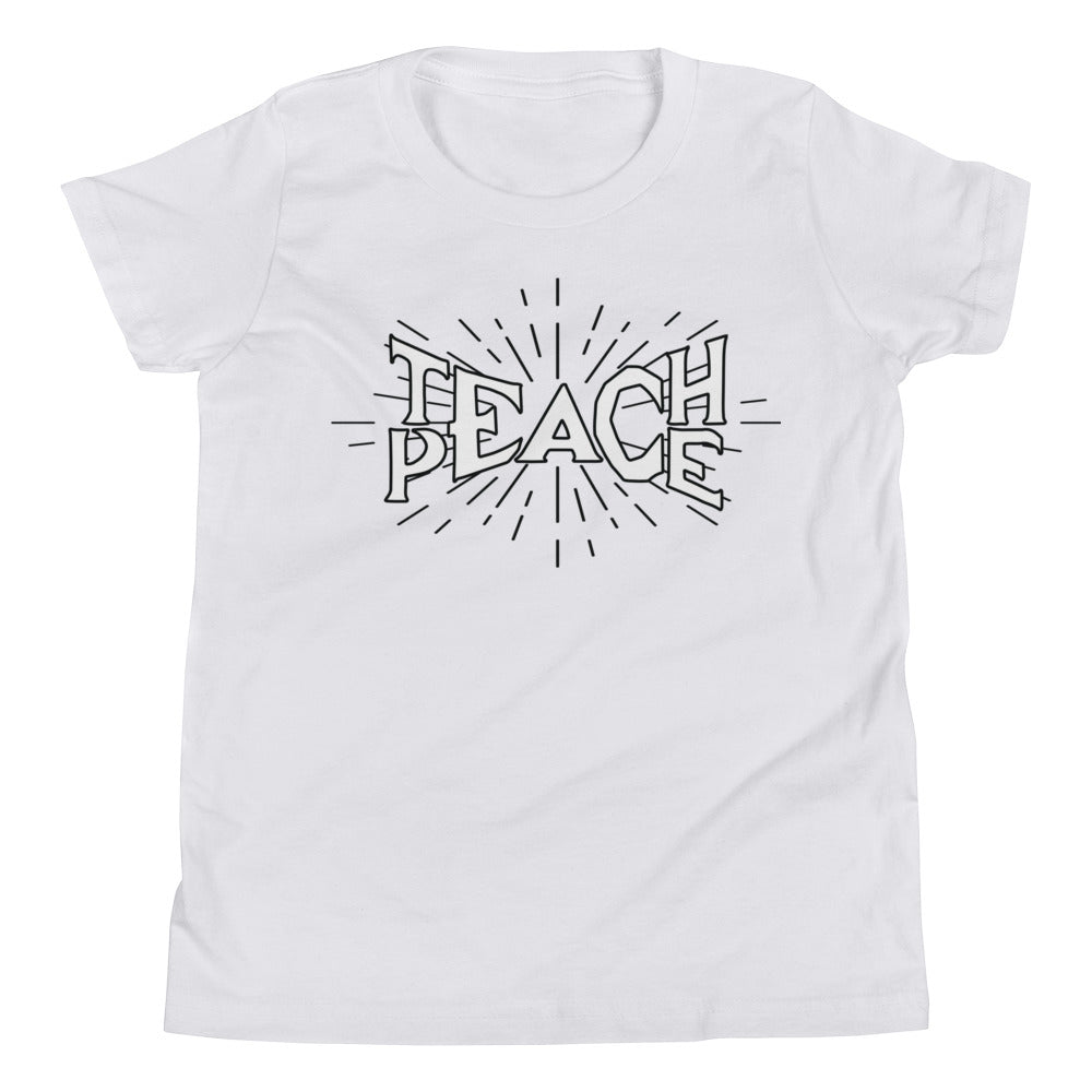 Teach Peace Rays Hollow - Youth Short Sleeve T-Shirt