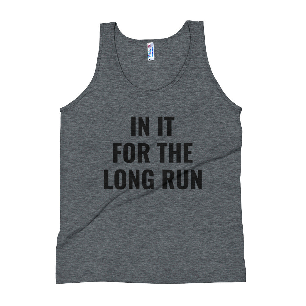 Couples Tank Top - In It for the Long Run - Workout Running Shirt - Engagement Wedding