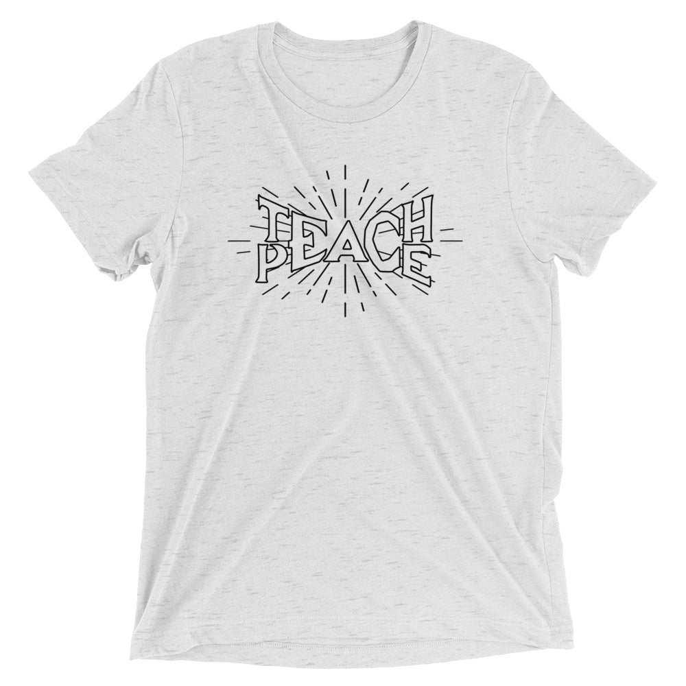 Teach Peace Ray Hollow - Unisex Short Sleeve Vintage White T-shirt*