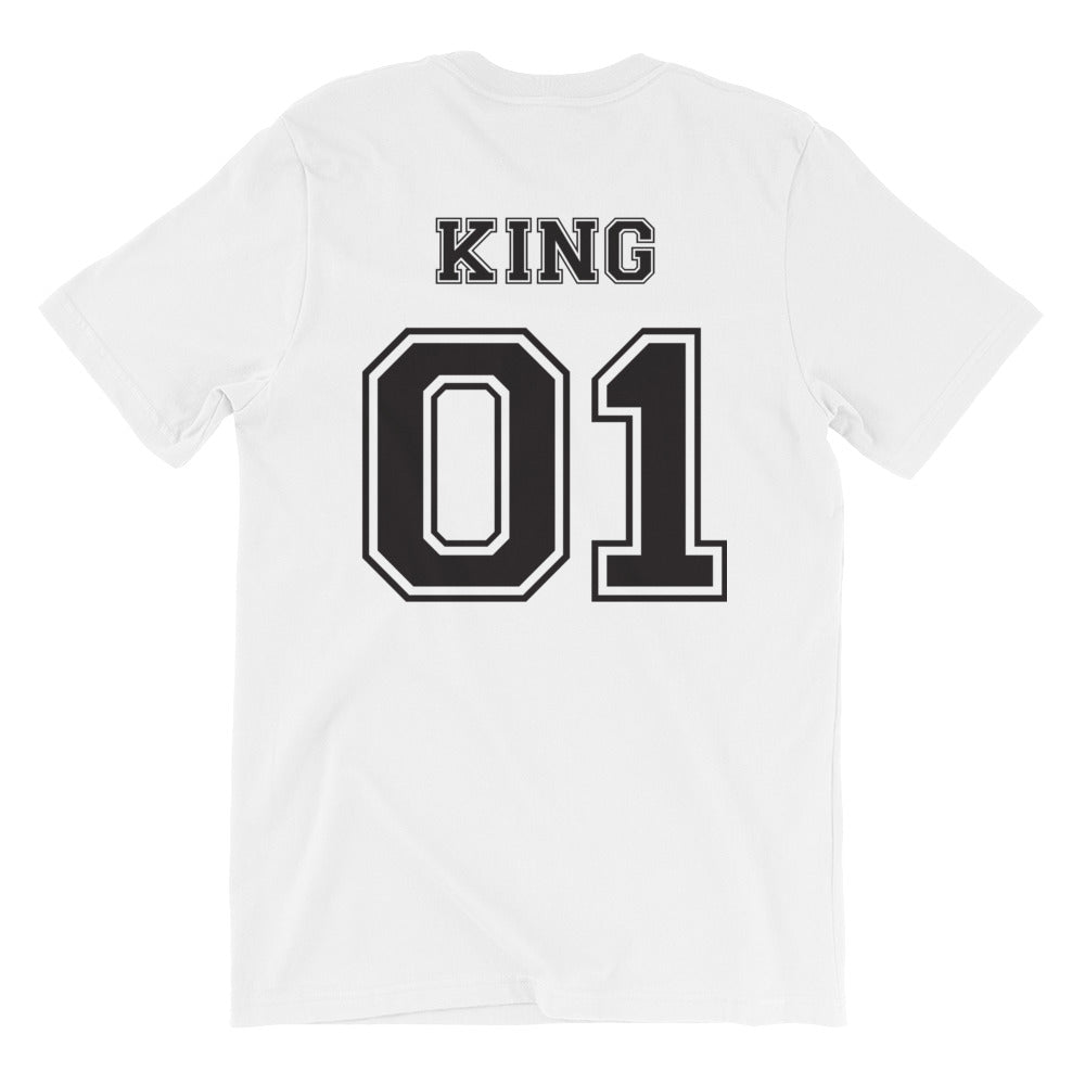 King - White Short-Sleeve Unisex T-Shirt