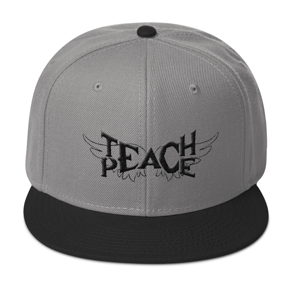 Teach Peace Wings - Gray Snapback Hat