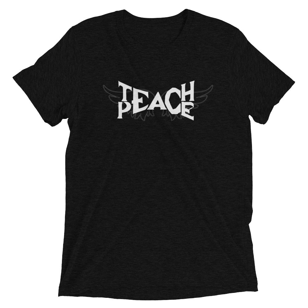 Teach Peace Wings Black Unisex Short Sleeve T-shirt