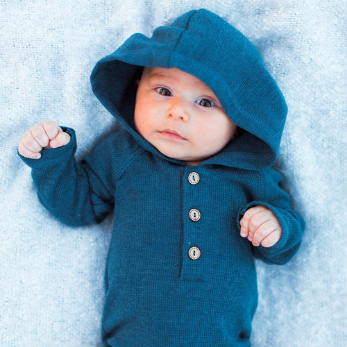 Julian Navy Thermal Hoodie Shirt and Bodysuit