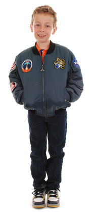 Rocket Blue Space Shuttle Bomber Jacket | NASA Astronaut Jacket