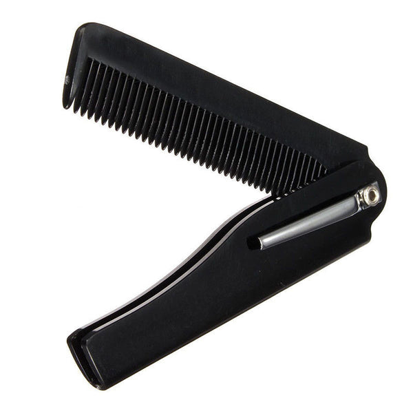 Hot Fashion Mens Womens Handmade Folding Pocket Clip Hair Moustache Beard Comb