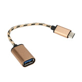 Hot Selling USB 3.1 Type-C USB-C OTG Cable USB3.1 Male to USB2.0 Type-A Female Adapter Cord Gift 1PC Nov 1