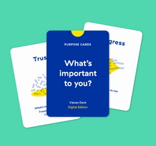 Laden Sie das Bild in den Galerie-Viewer, Purpose Cards — Values Toolkit