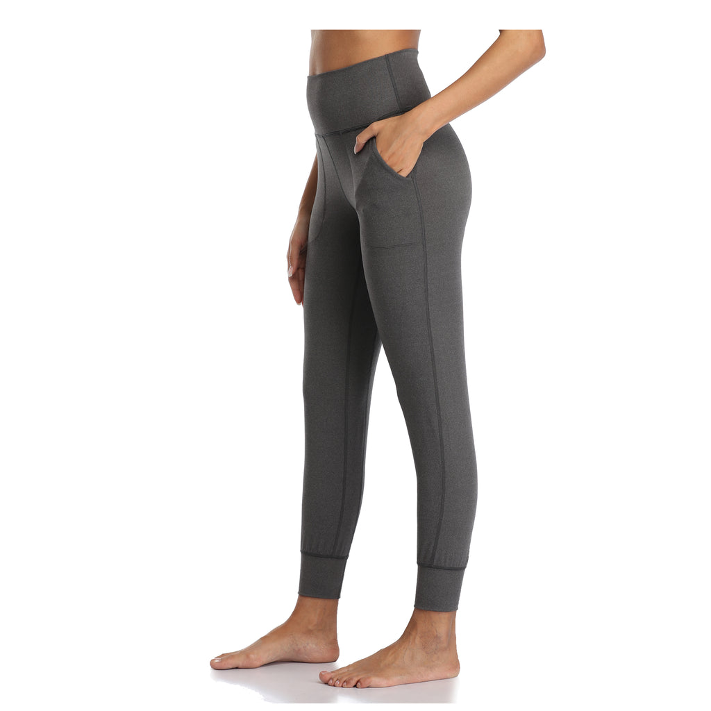28″ High Waisted Joggers - Heather Grey