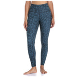 28″ High Waisted Pattern Leggings - Green & Beige Mixed Splinter Camo