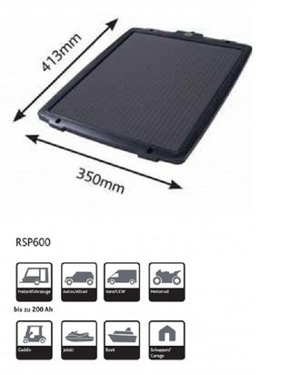 Ring RSP600 6w Solar Battery Charger / Maintainer Car Boat Caravan Motorhome - UKB4C