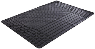 SAKURA HEAVY DUTY DURABLE WATERPROOF RUBBER CAR BOOT PROTECTION LINER MAT BLACK - UKB4C