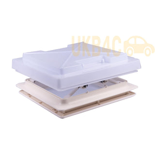 Roof Vent Sky Light Caravan Motorhome 280 x 280mm Flynet White MPK Rooflight - UKB4C