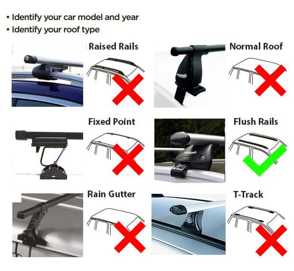 Aluminium Summit Roof Rack Cross Bars fits Mercedes E Class 2017 on 5 door - UKB4C