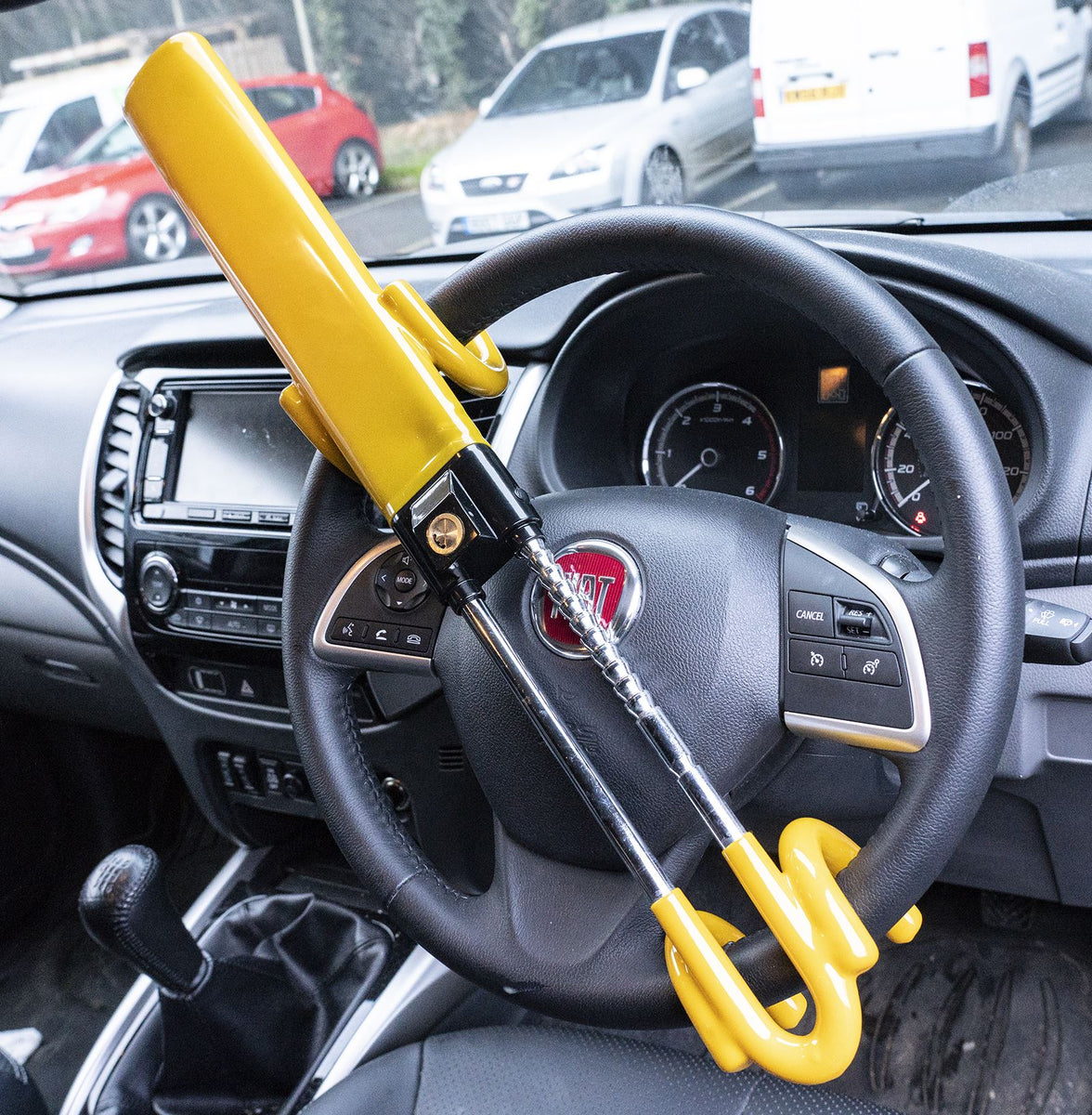 UKB4C Steering Wheel Lock High Security Anti Theft Twin Bar for Peugeot 308 07-On