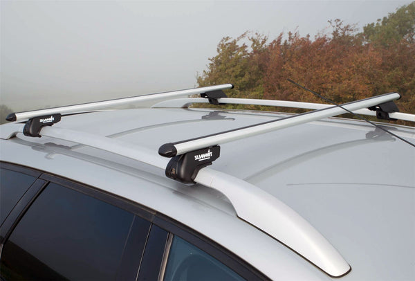 Aluminium Roof Rack Cross Bars fits BMW 5 Series 1997-2003 E39 5 door - UKB4C