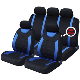 UKB4C Blue Steering Wheel & Seat Cover set for Vauxhall Corsa Hatchback - UKB4C