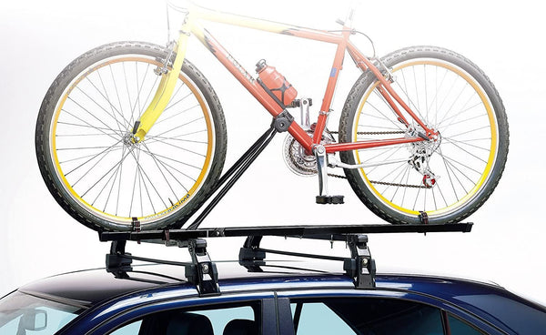 3x Car Roof Mounted Rack Bar Mounted Bike Cycle Carrier Upright Bike Carrier - Bars4Cars