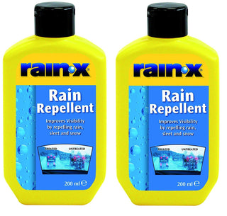 2x RainX Rain x Water Fog Mist Repellent Clear Screen Windscreen Cleaner 200ml - UKB4C