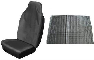 Sakura Heavy Duty Single Seat Protector, Black + Boot Liner - UKB4C