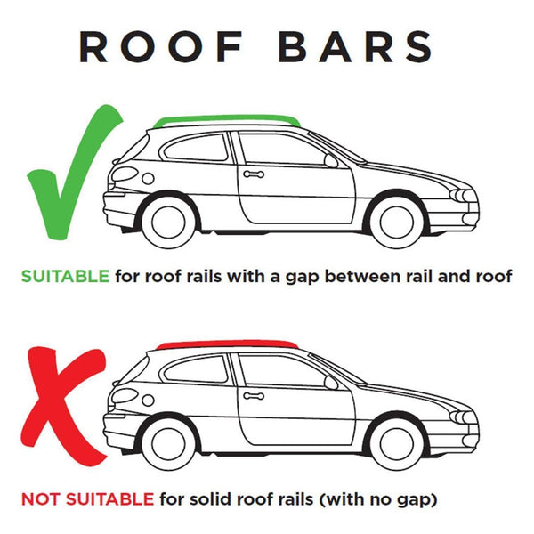 Universal Summit Premium Roof Bars suitaible for Longitudal Factory fitted Open Rails 75kg 135cm