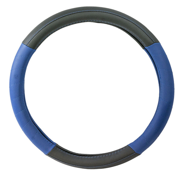 UKB4C Blue Leather Look Stitched Steering Wheel Cover for Fiat Cinquecento 93-98 - UKB4C