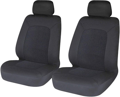 Quality Front Pair Black Airbag Fabric Seat Cover Protector Easy Fit For Seat