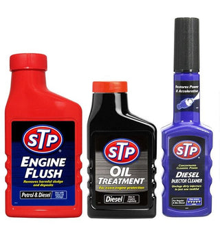 STP 3 Pack Engine Flush + Diesel Oil Treatment + Injector Cleaner Fuel Additive - UKB4C