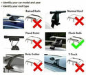 Summit 1.2m 75kg Locking Aluminium Car Roof Bars Cross for Profile Flush Rails