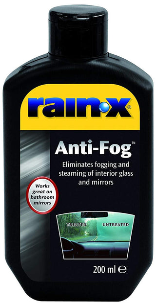 RainX Rain X Anti Fog Clear Mist Repellent Windscreen & Microfibre Pad - UKB4C