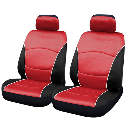 UKB4C Blue Black Modern Look Pair Front Car Seat Covers