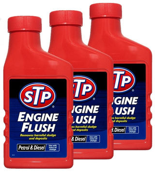 3x STP Engine Flush 450ml For Petrol Or Diesel Engines Oil Flushing Clean Additive - UKB4C
