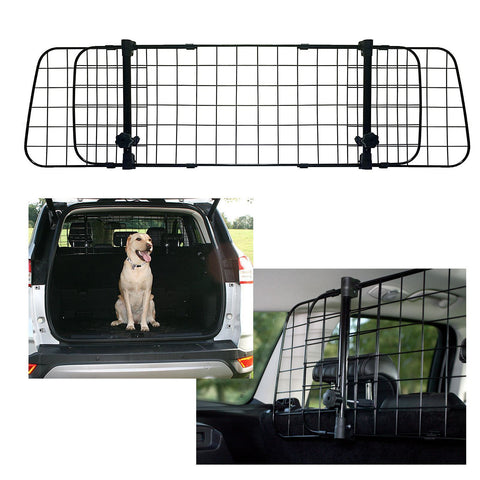 Sakura Universal Dog Guard Adjustable Safety Travel Dog Pet Headrest Car Mesh Barrier - UKB4C