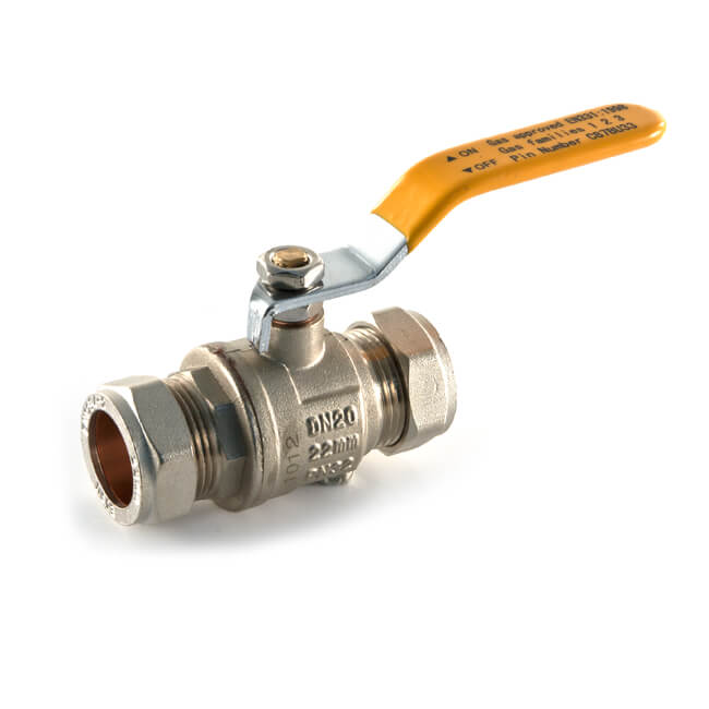 15mm Yellow Ball Valves (Gas Approved)