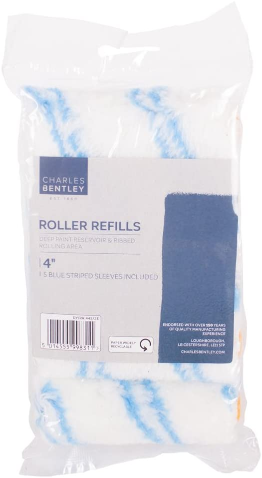 "Charles Bentley 4"" Blue Striped 5 Pack With Sleeves"