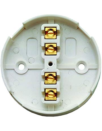 5 Pack - 20a 4 Terminal Junction Box, 80mm Diameter. White