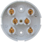 20a 6 Terminal Junction Box, 86mm Diameter. White