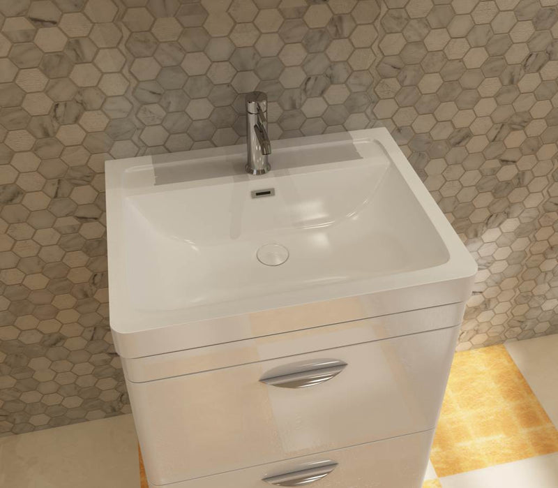 Apollo 600 FS Unit And Polymarble Basin White