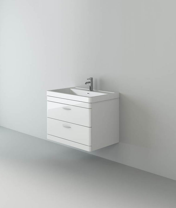Apollo 700 Wall Hung Unit And Polymarble Basin White